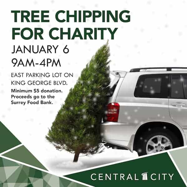 Tree Chipping for Charity, Central City, Surrey