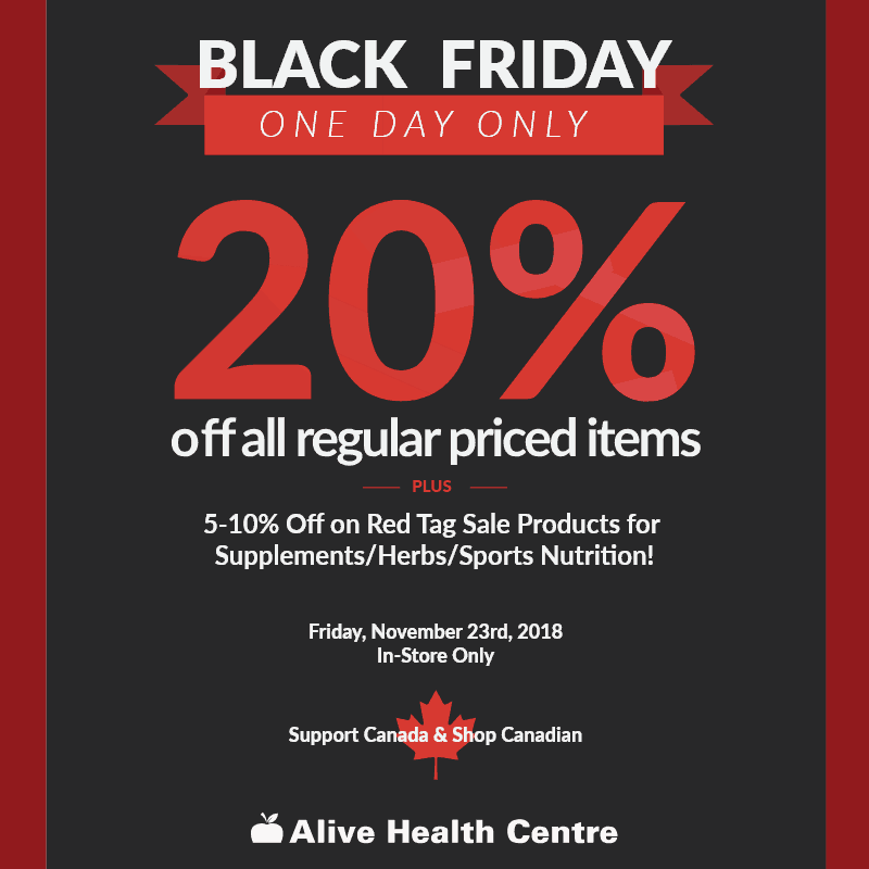Alive Health Centre Black Friday Sale at Central City in Surrey, BC