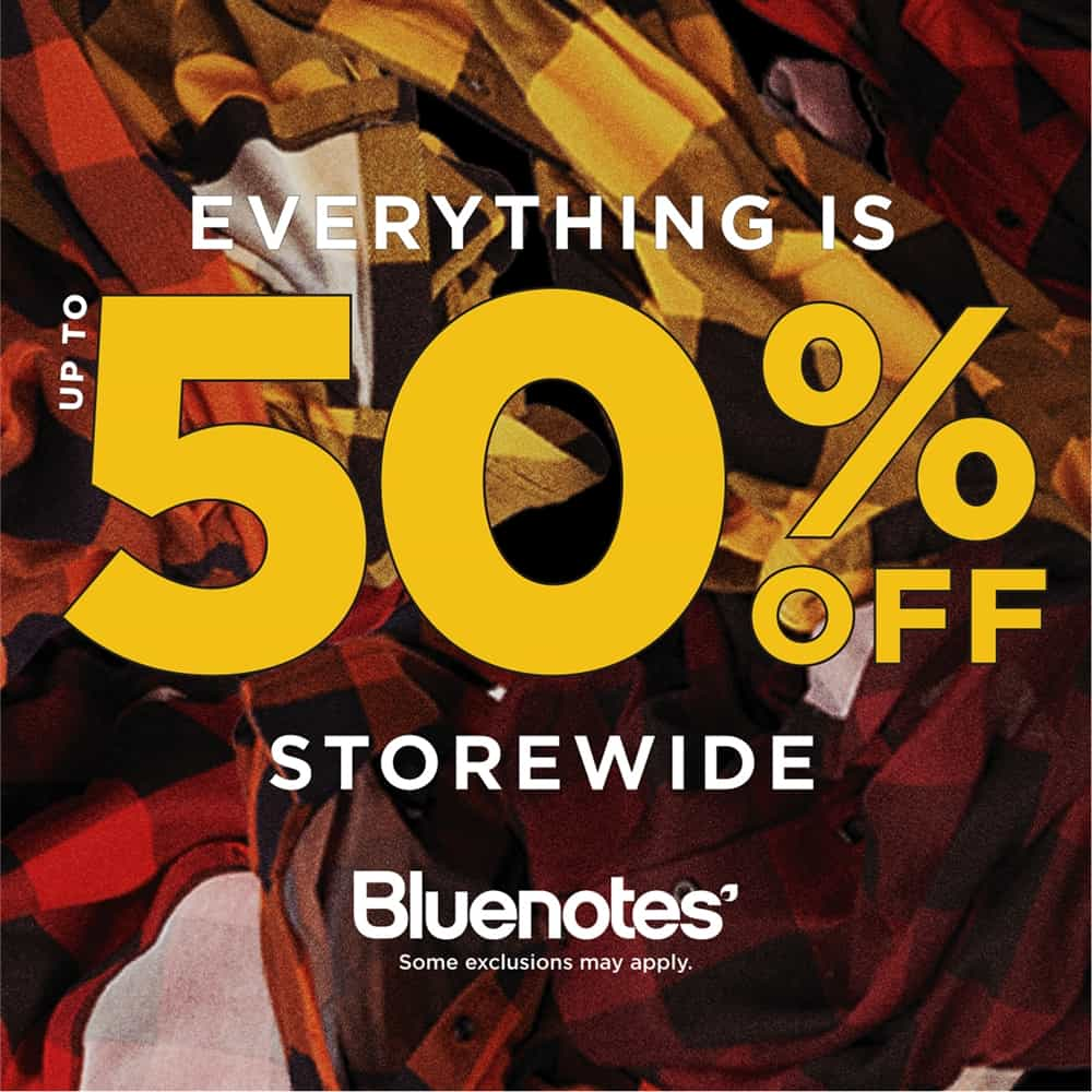 Bluenotes 50% Off Sale at Central City in Surrey, BC