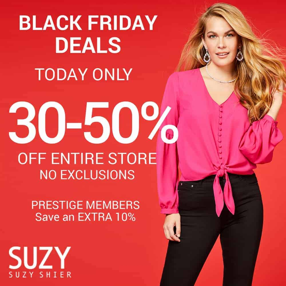 Suzy Shier Black Friday Sale at Central City in Surrey, BC