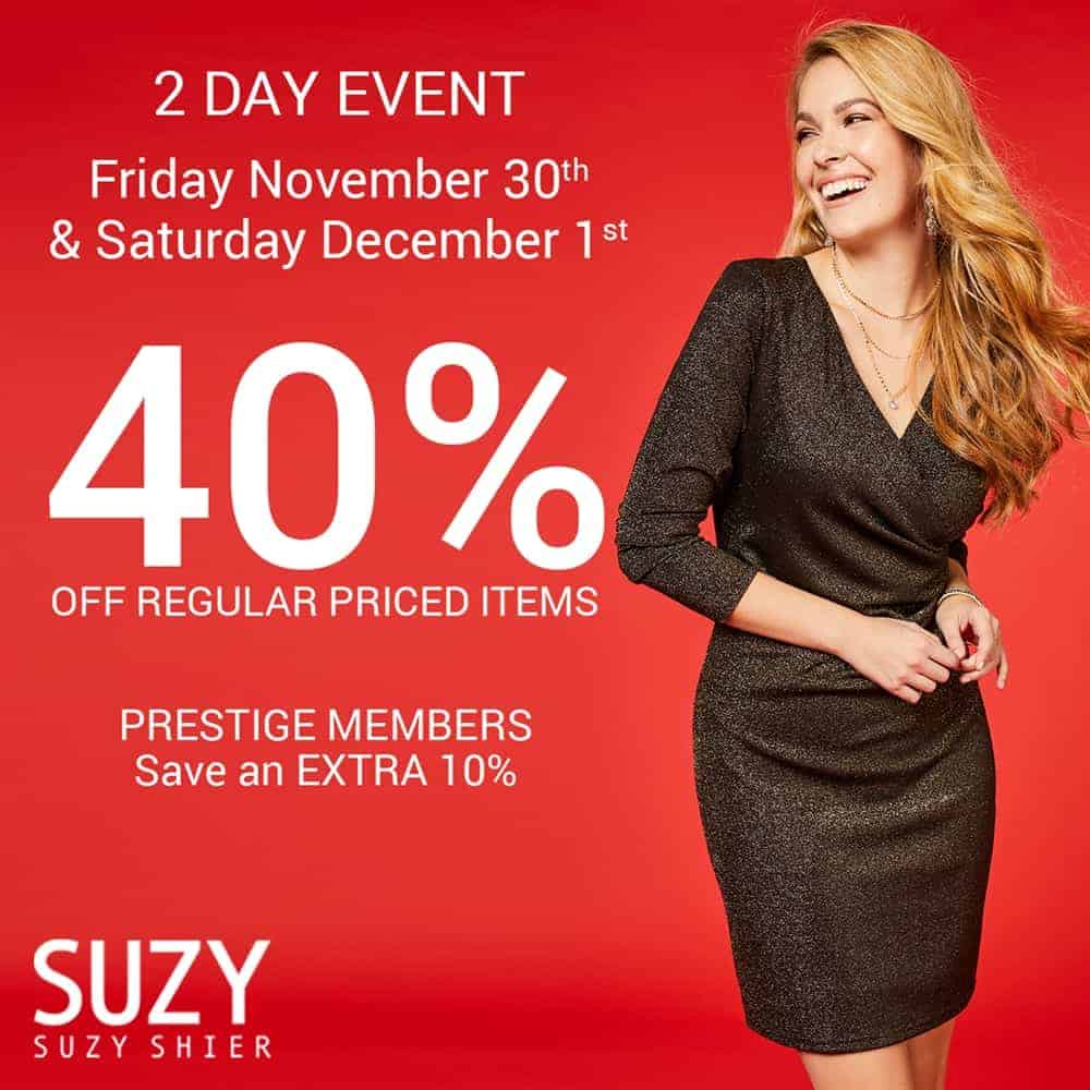 40 Off Sale Suzy Shier at Central City in Surrey, BC