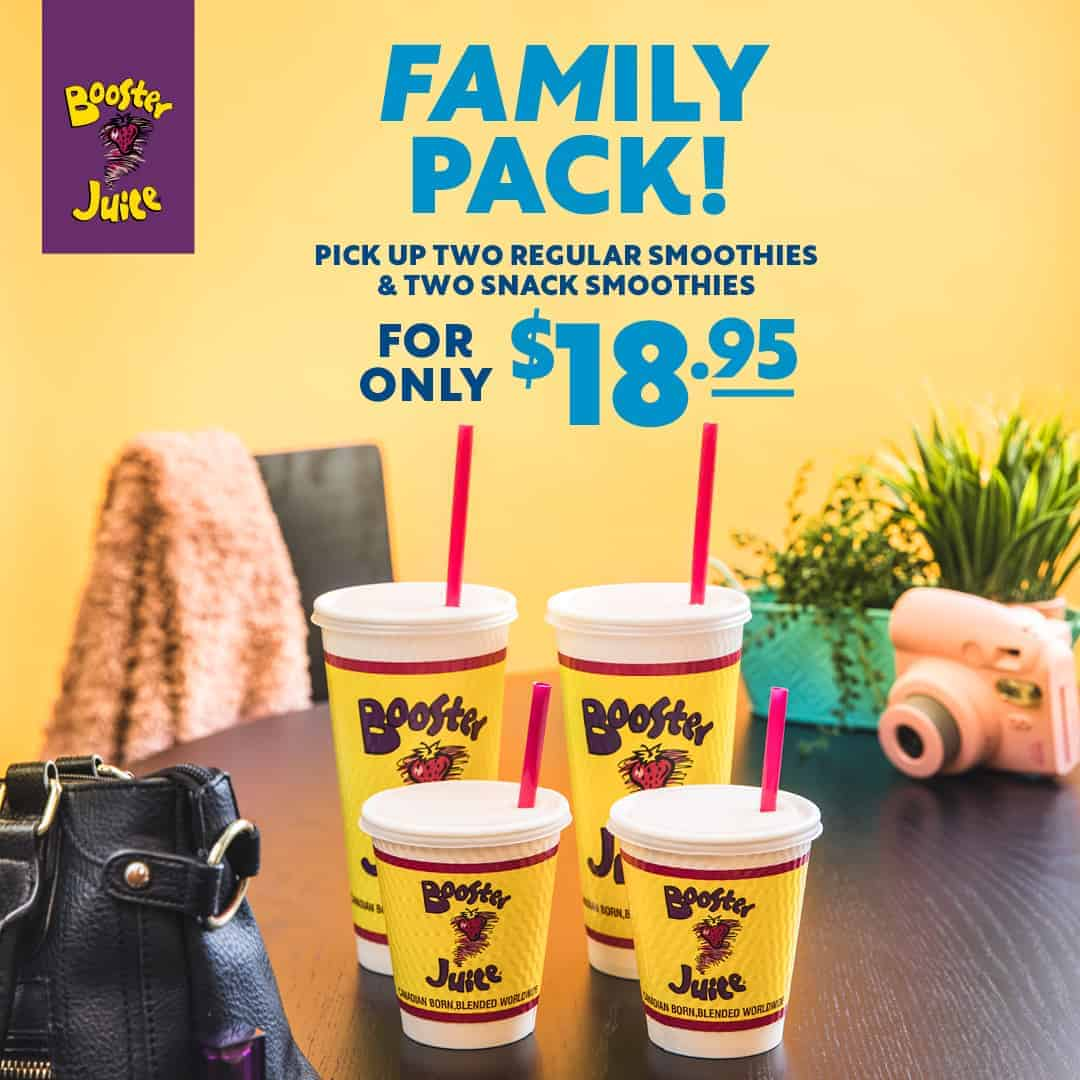 Booster Juice Family Pack, Central City Surrey