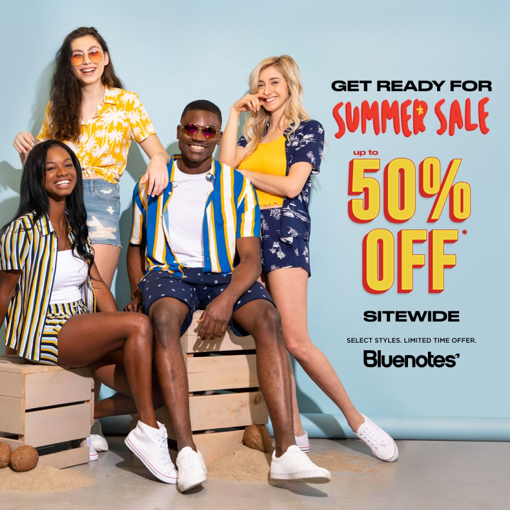 Bluenotes Summer Sale at Central City, Surrey, BC